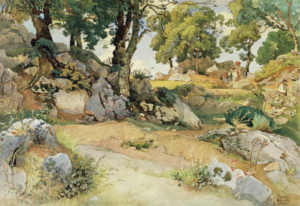 Painting - Rocks And Oaks In The Serpentara by Victor Paul Mohn