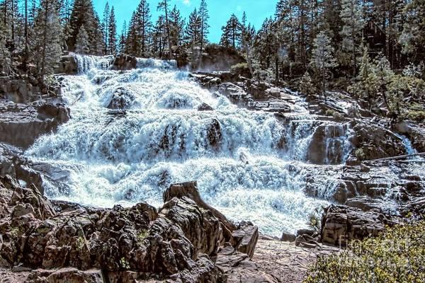 Photograph - Rocks Around The Waterfall by Joe Lach