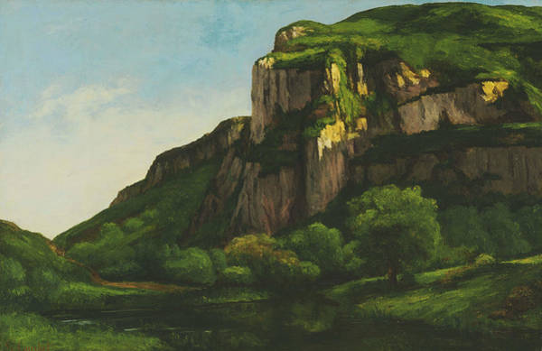 Painting - Rocks At Mouthier by Gustave Courbet