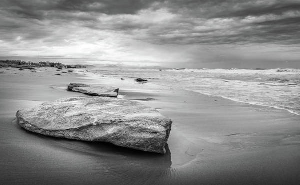 Photograph - Rocks On A Sandy Beach. by Gary Gillette