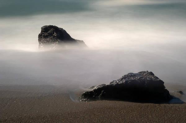 Wall Art - Photograph - Rocks On Black Sand Beach by Catherine Lau