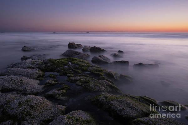 Wall Art - Photograph - Rocks On The Beach At Sunset by Masako Metz