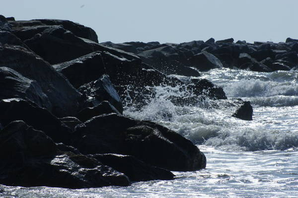 Jetti Wall Art - Photograph - Rocks On The Jetti At Cocoa Beach by Theresa Cangelosi