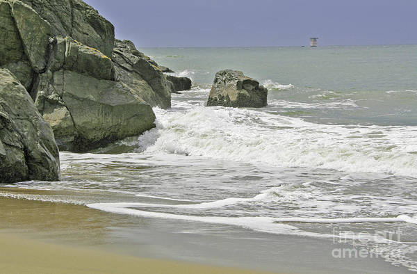 Photograph - Rocks, Sand And Surf by Joyce Creswell