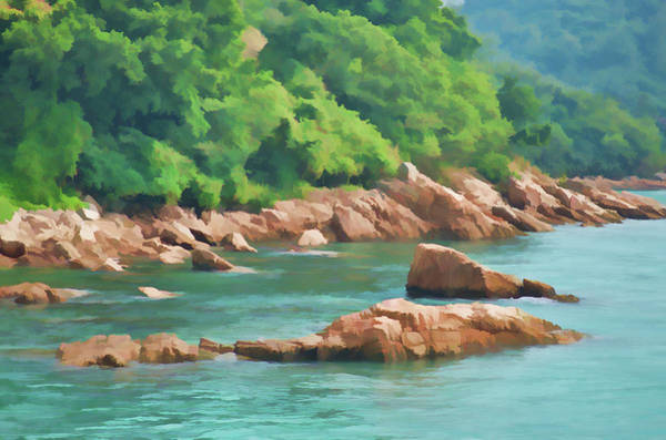 Hongkong Mixed Media - Rocks Stanley Bay, Pastel by Mariia Kalinichenko