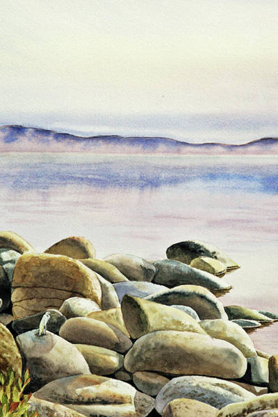 Wall Art - Painting - Rocks Water Reflections by Irina Sztukowski