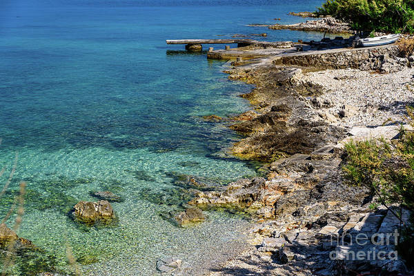 Photograph - Rocky Beach And Crystal Clear Water On The Dalmatian Coast, Trogir Croatia by Global Light Photography - Nicole Leffer