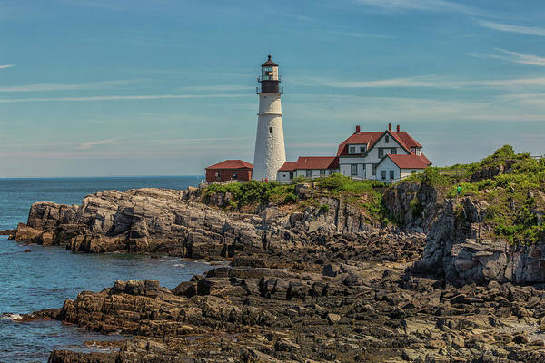 Photograph - Rocky Coast At Portland Head Light by Brian MacLean