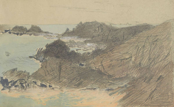 Drawing - Rocky Coast  by John Singer Sargent