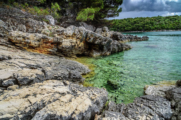 Photograph - Rocky Coast Of Rab, Croatia by Global Light Photography - Nicole Leffer