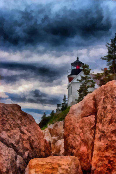 Photograph - Rocky Crags Of Maine Lighthouse by Jeff Folger
