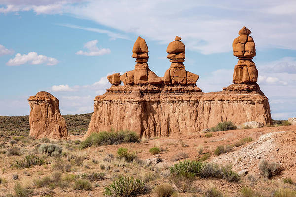 Photograph - Three Kings In Goblin Valley by Kyle Lee