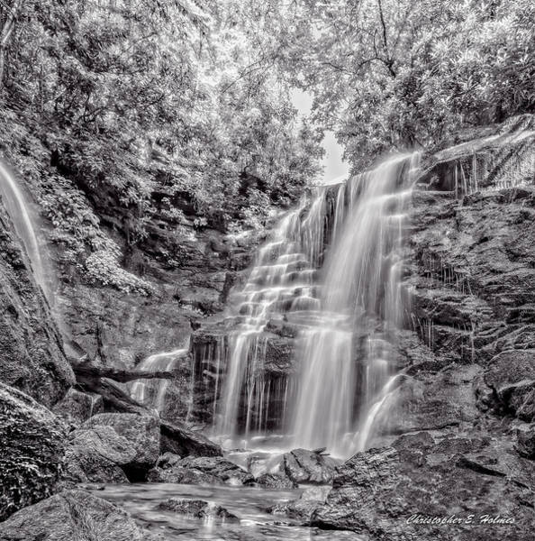 Wall Art - Photograph - Rocky Falls - Bw by Christopher Holmes