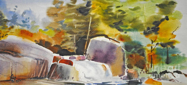 Painting - Rocky Falls by P Anthony Visco
