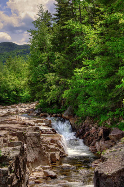 Photograph - Rocky Gorge - White Mountains National Forest by Joann Vitali