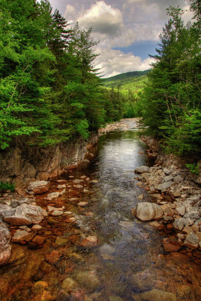 Photograph - Rocky Gorge - White Mountains Nh by Joann Vitali