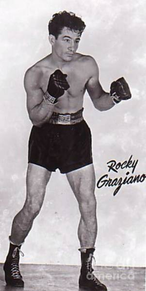 Wall Art - Photograph - Rocky Graziano Boxer by Pd