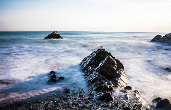 English Countryside Photograph - Rocky Headland by Martin Newman
