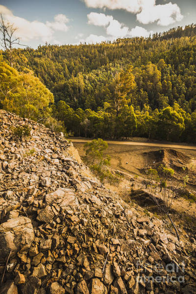 Mining Photograph - Rocky Hills And Forestry Views by Jorgo Photography - Wall Art Gallery