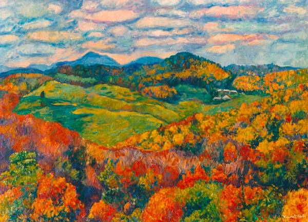 Wall Art - Painting - Rocky Knob In Fall by Kendall Kessler