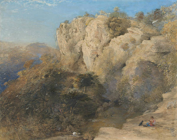 Painting - Rocky Landscape In Wales  by Samuel Palmer