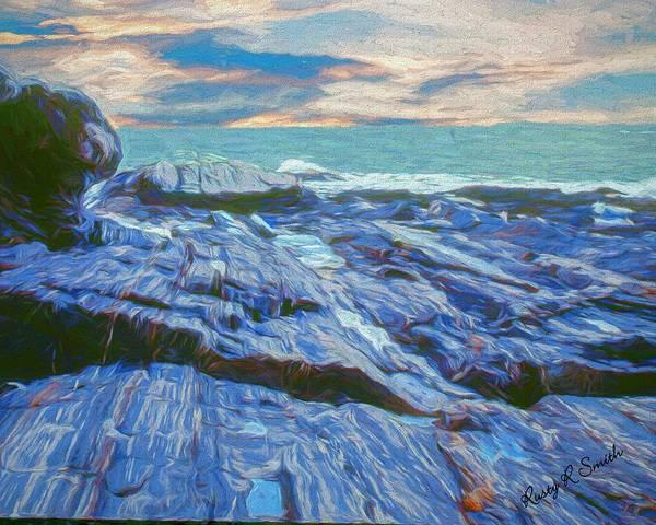 Digital Art - Rocky Maine Coast. by Rusty R Smith