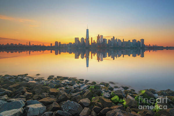 Lower Manhattan Photograph - Rocky Manhattan Reflections  by Michael Ver Sprill