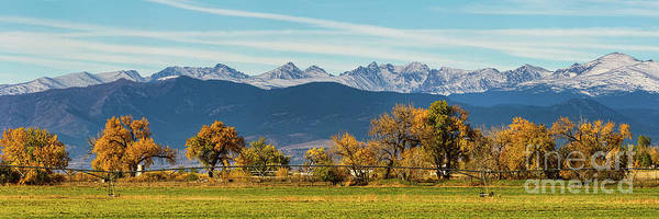 Photograph - Rocky Mountain Autumn Farming Panorama by James BO Insogna