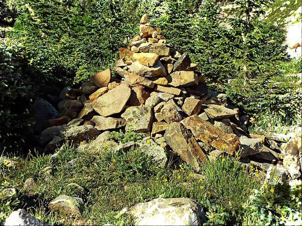 Photograph - Rocky Mountain Cairn by Joseph Hendrix