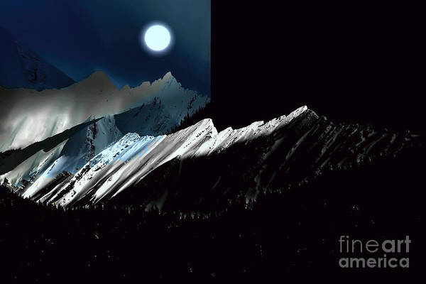 Wall Art - Photograph - Rocky Mountain Glory In Moonlight by Elaine Hunter