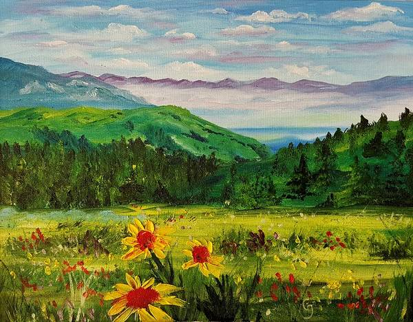 Painting - Rocky Mountain High  #60 by Cheryl Nancy Ann Gordon