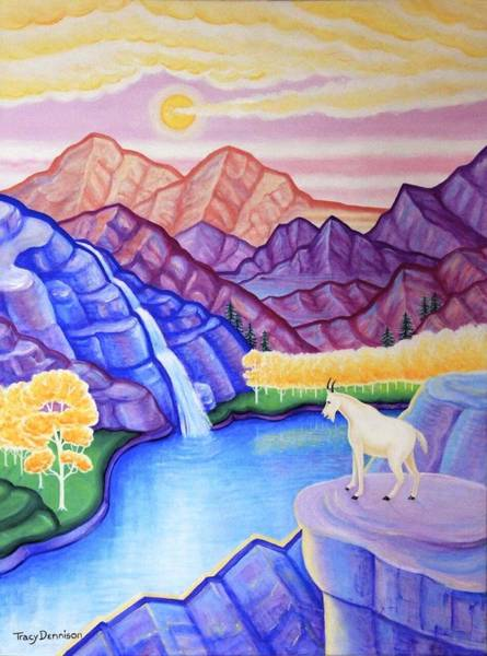 Painting - Rocky Mountain High by Tracy Dennison