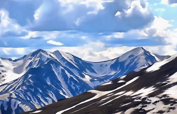 Spring Mountains Digital Art - Rocky Mountain High Trail Ridge Road by Dan Sproul