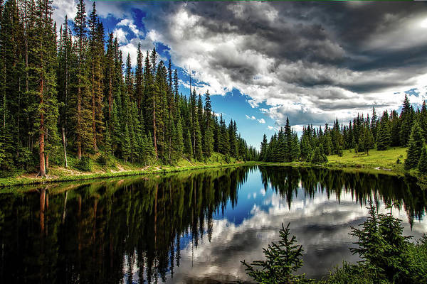 Photograph - Rocky Mountain Lake Irene by Movie Poster Prints