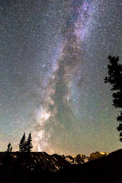 Photograph - Rocky Mountain Milky Way And Falling Star by James BO Insogna