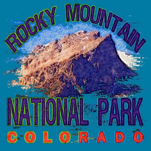 Wall Art - Digital Art - Rocky Mountain National Park by David G Paul