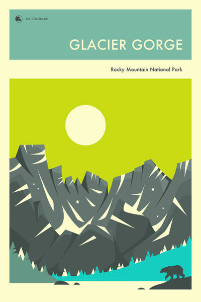 Rocky Mountain National Park Wall Art - Digital Art - Glacier Gorge by Jazzberry Blue