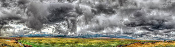 Rocky Mountain Panorama Hdr Art Print