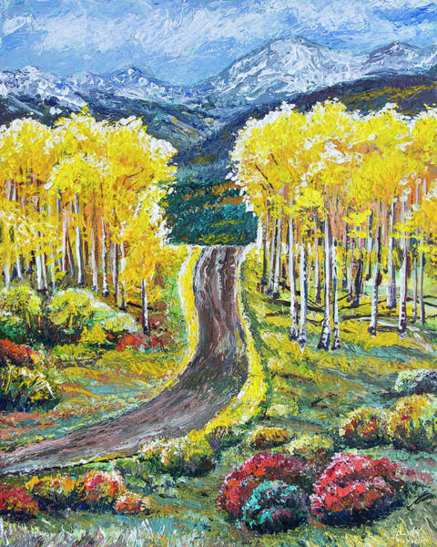 Painting - Rocky Mountain Road by Aaron Spong