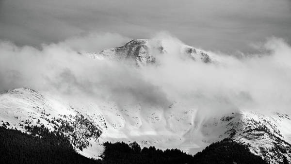 Photograph - Rocky Mountain Snowy Peak by Stephen Holst