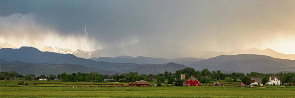 Wall Art - Photograph - Rocky Mountain Storming Panorama by James BO Insogna