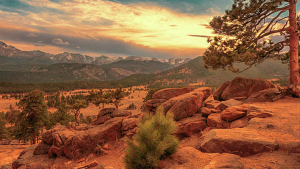 Photograph - Rocky Mountain Sundown by Susan Rissi Tregoning