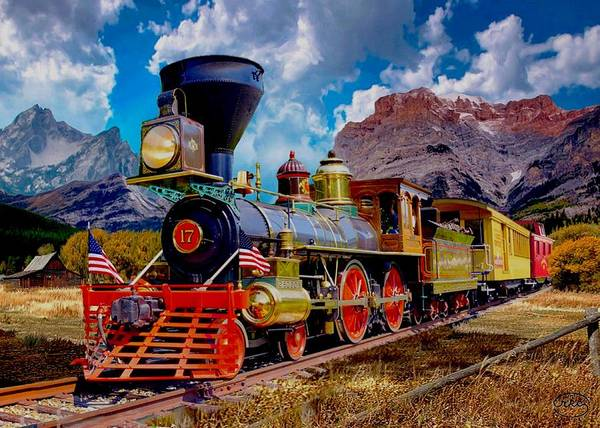 Wall Art - Photograph - Rocky Mountain Train 3 by Ron Chambers