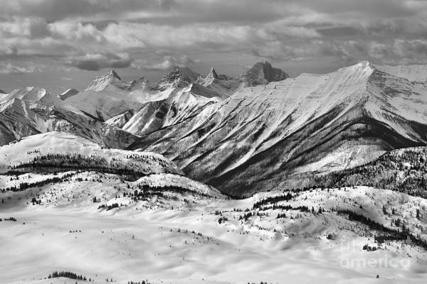 Photograph - Rocky Mountain Views From The Slopes Of Sunshine Black And White by Adam Jewell