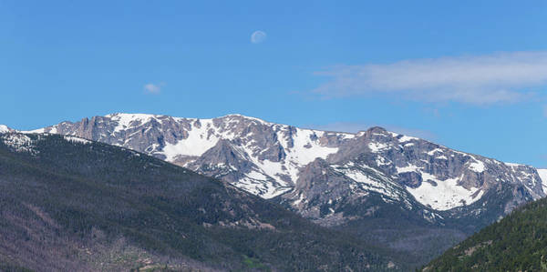 Wall Art - Photograph - Rocky Mountain Waning Gibbous Moon Set by James BO Insogna