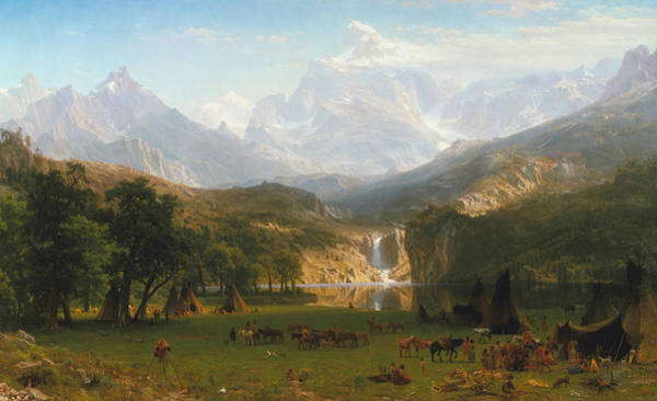 Wall Art - Painting - Rocky Mountains by Albert Bierstadt