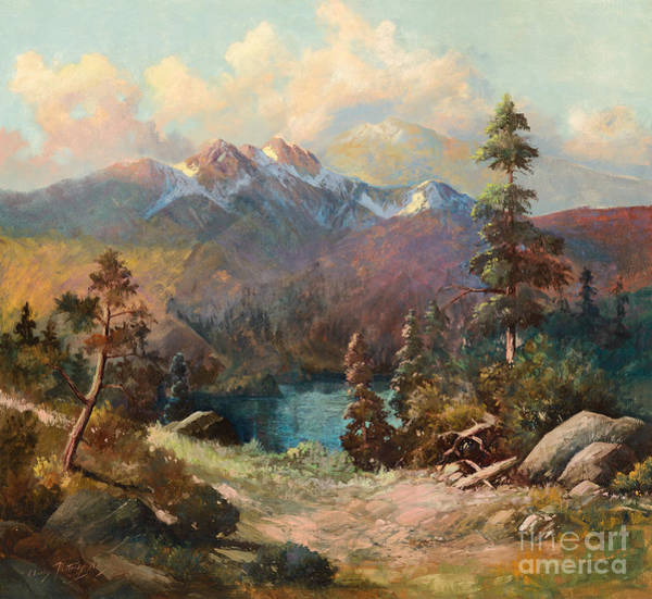 Painting - Rocky Mountains by Celestial Images