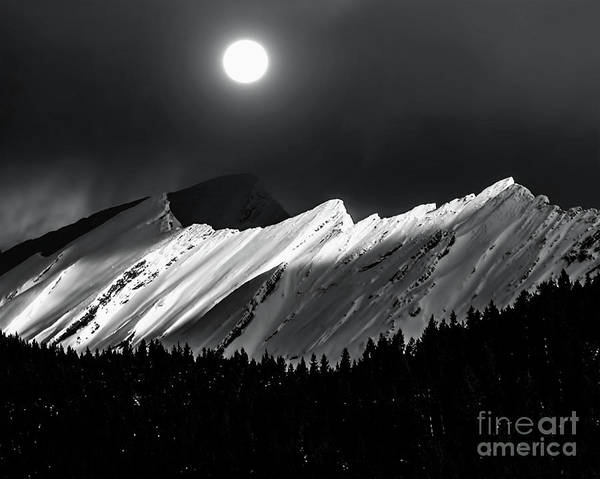 Wall Art - Photograph - Rocky Mountains In Moonlight by Elaine Hunter