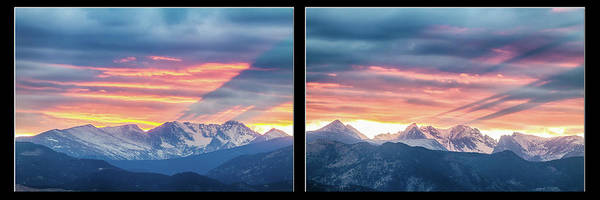 Wall Art - Photograph - Rocky Mountains Sunset Waves Panorama Collage by James BO Insogna