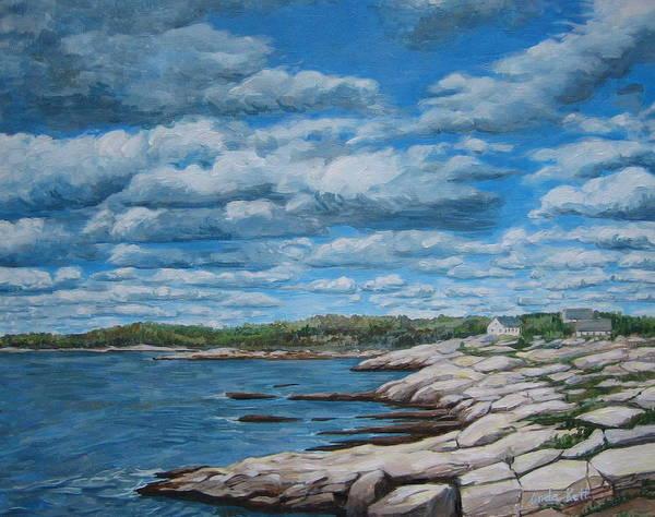 Nova Scotia Painting - Rocky Ns Shore by Anda Kett